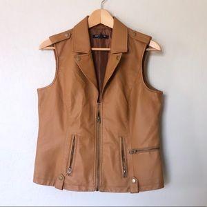 Baccini | Faux Leather Vest
